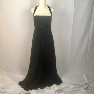 Alfred Angelo LB-FE3026 Halter Long Black Dress
